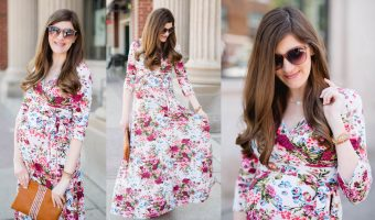 Fashionable Floral Maternity Maxi Dress</br> + Pink Blush Giveaway