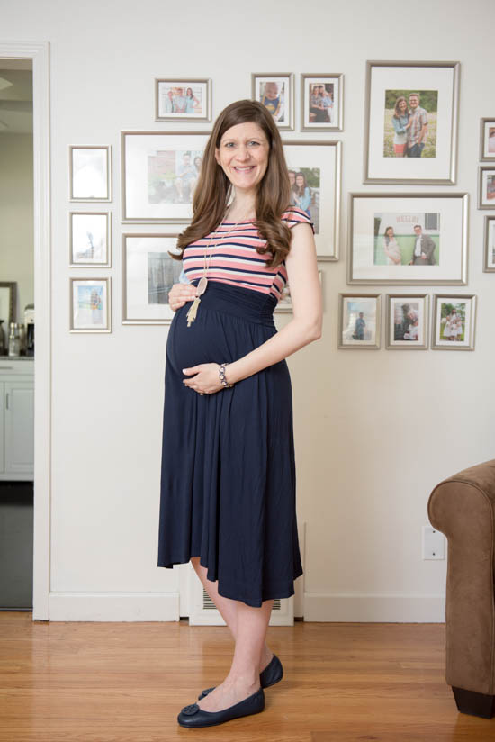 Nene 2fer Knit Midi Dress from Le Lis | June Stitch Fix Maternity Review | Crazy Together blog