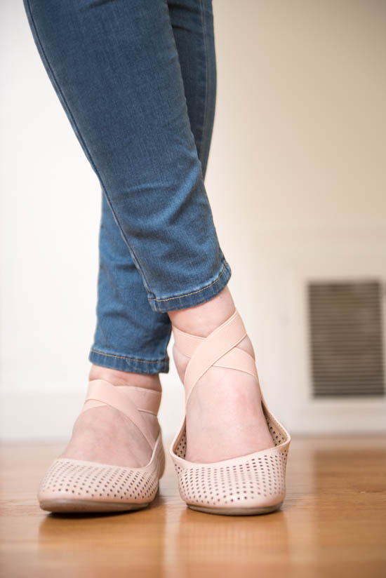 Malika Perforated Ballet Flats from Report Footwear | June Stitch Fix Maternity Review | Crazy Together blog