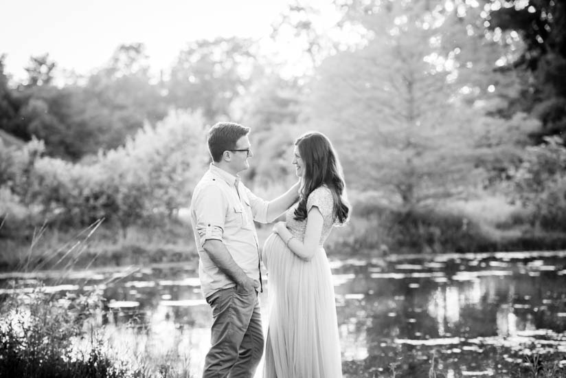maternity photos in a sequin gown | Crazy Together blog