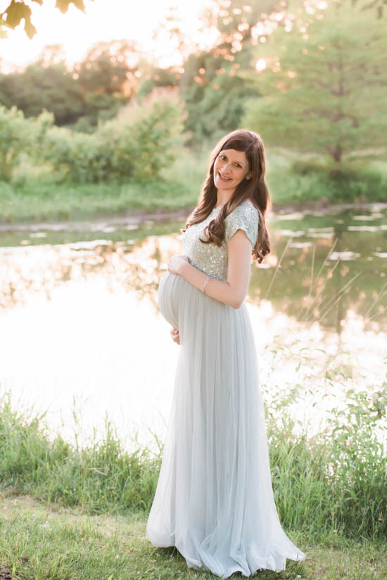 maternity photo gown | Crazy Together blog