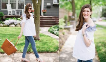 Off the Shoulder Maternity Style