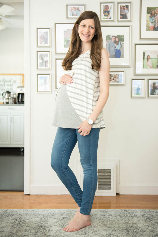 Kaila Maternity Nursing Panel Top from Loveappella Maternity | Stitch Fix maternity review | maternity fix | maternity fashion | Crazy Together blog