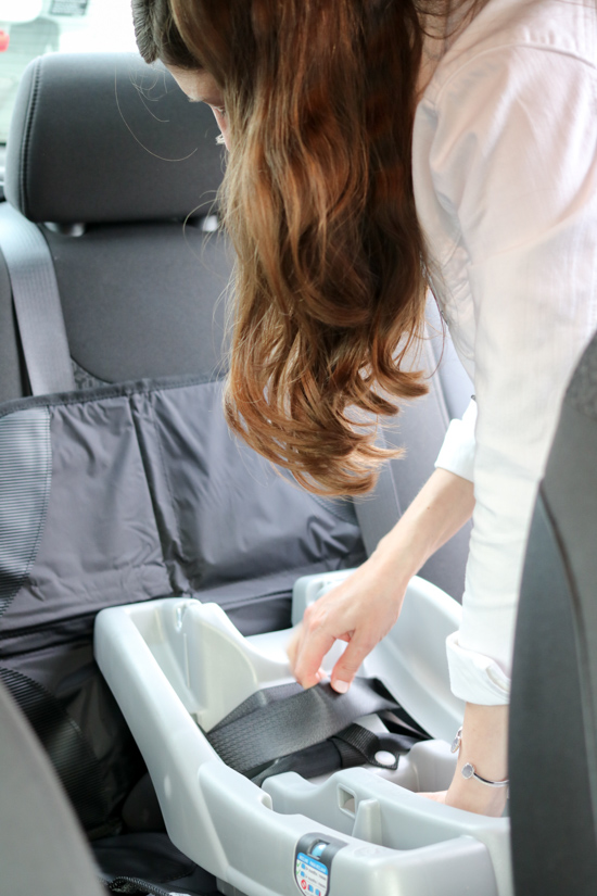 Learning how to install a car seat, thanks to SafeKids.org | Crazy Together blog