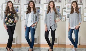 Black, Gray and White:</br>My Stitch Fix Capsule Wardrobe