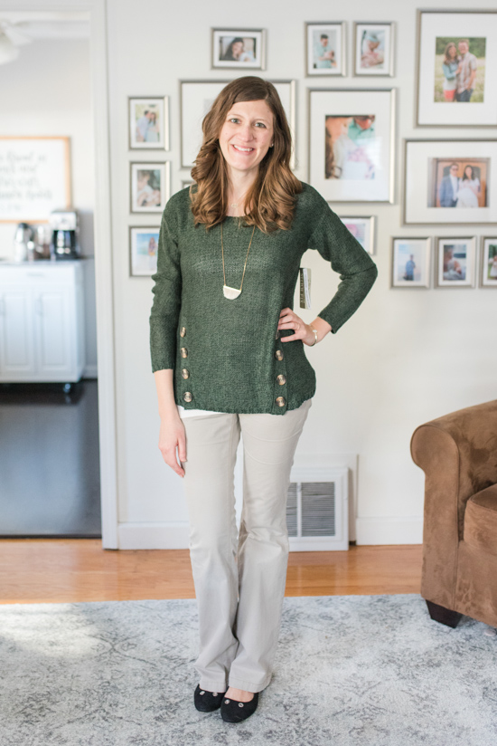 Sienna Side Button Detail Sweater | warm and cozy winter fix | Stitch Fix clothes | Crazy Together blog
