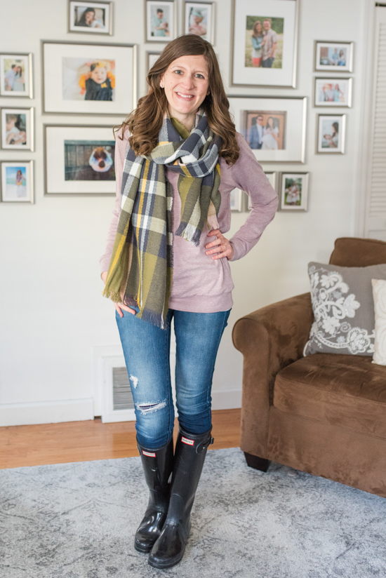 Illinois Square Scarf by Shiraleah | warm and cozy winter fix | Stitch Fix clothes | Crazy Together blog