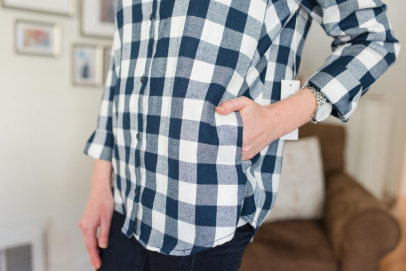 Agata Pocketed Flannel Shirt by Statement | warm and cozy winter fix | Stitch Fix clothes | Crazy Together blog