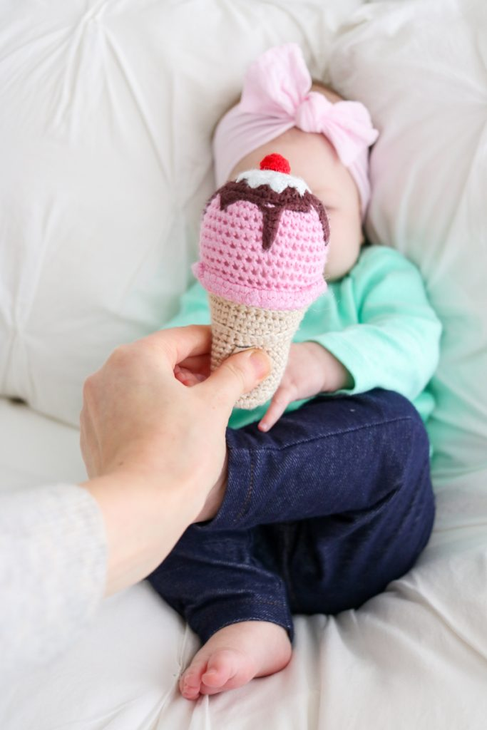 Ice Cream Cone Baby Rattle from UncommonGoods | | Our Favorite Gifts for Babies and Children | Crazy Together Blog
