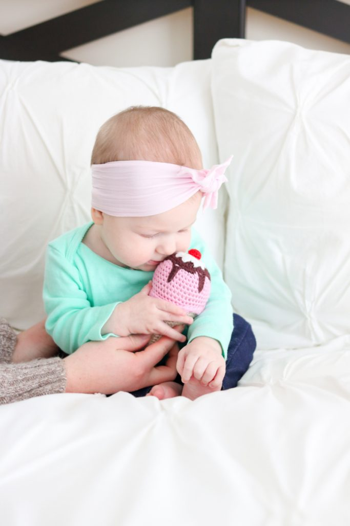 Ice Cream Cone Baby Rattle from UncommonGoods | Our Favorite Gifts for Babies and Children | Crazy Together Blog