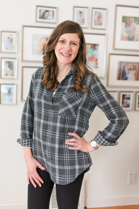 Rosalie Brushed Flannel Top from Cloth & Stone | Stitch Fix Clothes | January Stitch Fix Review | Crazy Together blog