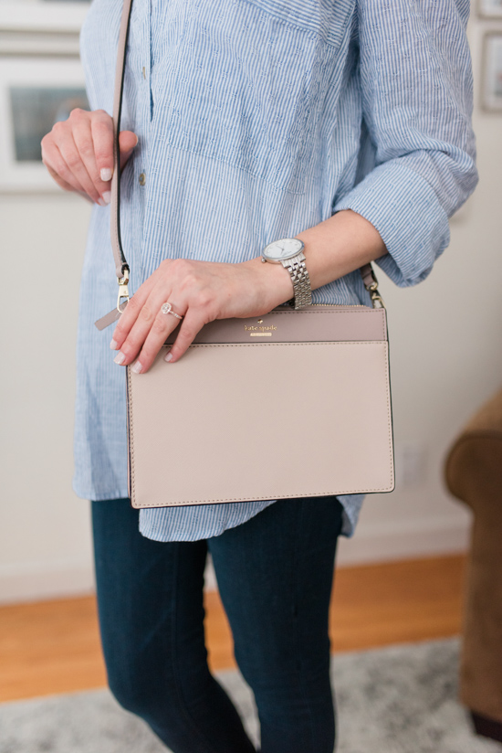 Stitch Fix now carries Kate Spade! Clarise Saffiano Leather Crossbody from Kate Spade | Stitch Fix Luxe | Stitch Fix Premium Brands | Crazy Together Blog