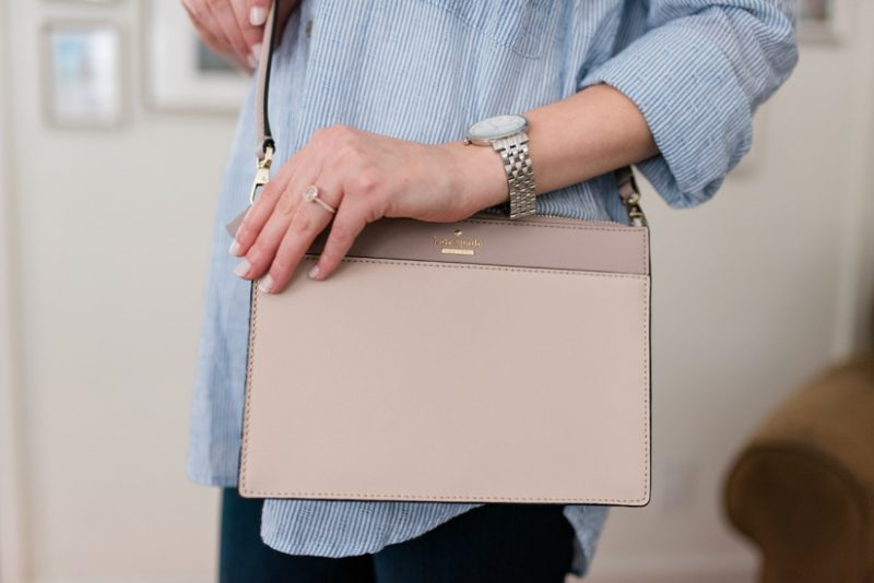 Try Stitch Fix Luxe and get luxury DESIGNER brands hand-picked by your personal stylist! | Clarise Saffiano Leather Crossbody from Kate Spade | Stitch Fix clothes | Crazy Together blog