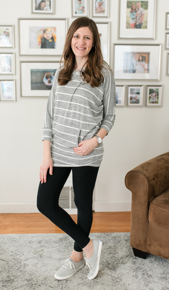 Love leggings, but also love great style? Check out my legging-friendly Stitch Fix box review | Karlotta Hooded Dolman Knit Top from 41 Hawthorn | Stitch Fix clothes | Stitch Fix review | Crazy Together blog