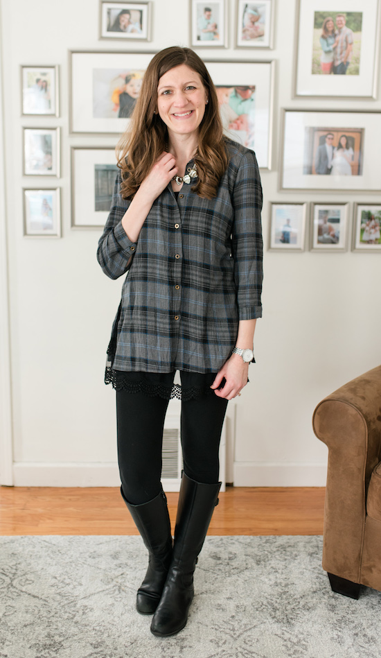 Love leggings, but also love great style? Check out my legging-friendly fix from Stitch Fix | Cece Ruffle Hem Tunic | Stitch Fix clothes | Stitch Fix review | Crazy Together blog