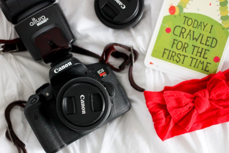 how to take better photos of your baby | gather supplies ahead of time | Crazy Together blog