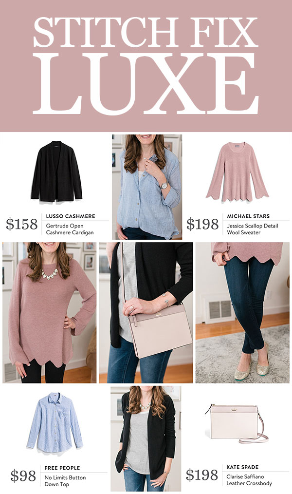 Stitch Fix Luxe offers the best premium brands hand-picked by your personal stylist. Stitch Fix Luxe Review - request a luxe fix from your Stylist | Crazy Together blog
