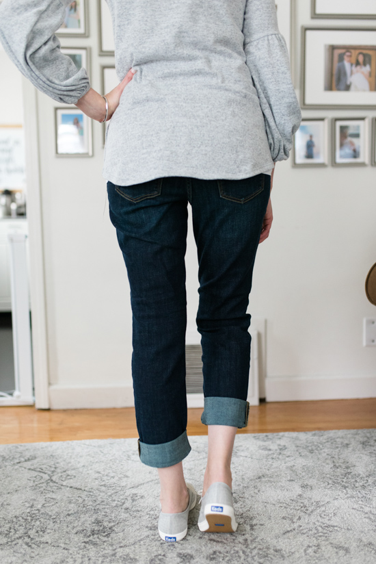 All-Denim Trunk Club Try On | Distressed Stretch Boyfriend Jeans by Caslon | Trunk Club clothes | Trunk Club review | women's fashion | clothing subscription boxes | Crazy Together blog