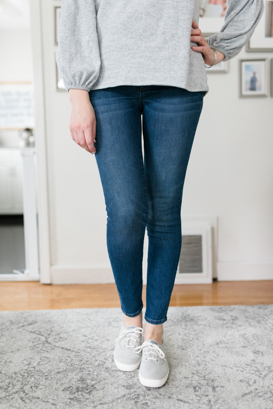 All-Denim Trunk Club Try On | J. Crew Toothpick Jeans | Trunk Club clothes | Trunk Club review | women's fashion | clothing subscription boxes | Crazy Together blog