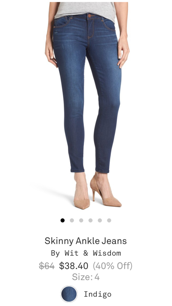 All-Denim Trunk Club Try On | Skinny Ankle Jeans by Wit & Wisdom | Trunk Club clothes | Trunk Club review | women's fashion | clothing subscription boxes | Crazy Together blog