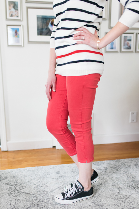 Ethan Split Hem Capri Skinny Jean from Just Black with Lilliani Pullover Sweater from 41 Hawthorn | Stitch Fix Spring Review | stitch fix clothes | Crazy Together Blog