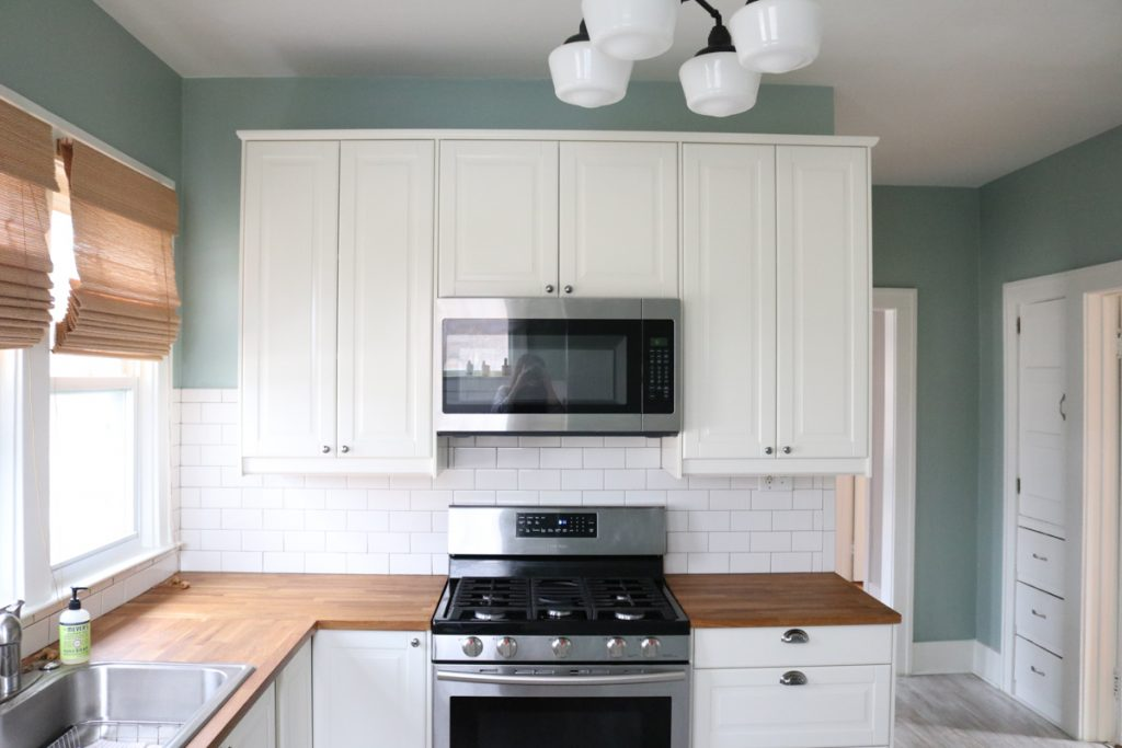1925 home tour | IKEA kitchen remodel with stainless steel appliances | Crazy Together blog