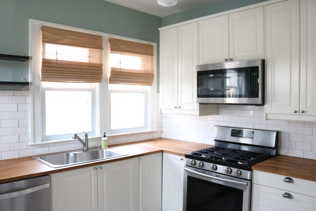 1925 home tour   IKEA kitchen remodel with stainless steel appliances   Crazy Together blog