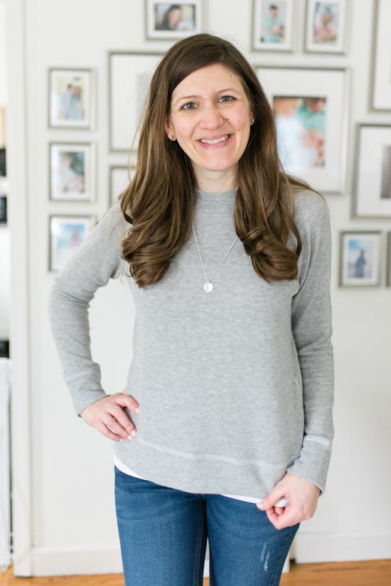 Jillyan Raglan Sweatshirt from LNA | Spring Stitch Fix Review | May 2018 Stitch Fix Review | Stitch Fix clothes | Stitch Fix blogger | Crazy Together blog
