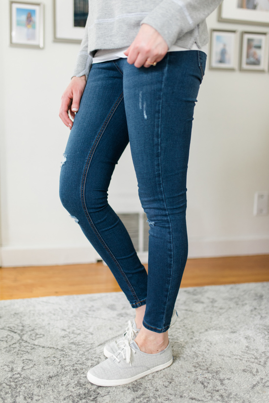 Avalie Distressed Skinny Jean | Spring Stitch Fix Review | May 2018 Stitch Fix Review | Stitch Fix clothes | Stitch Fix blogger | Crazy Together blog