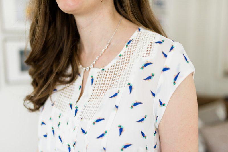 Estefany Lace Detail Split Neck Blouse | Spring Stitch Fix Review | May 2018 Stitch Fix Review | Stitch Fix clothes | Stitch Fix blogger | Crazy Together blog