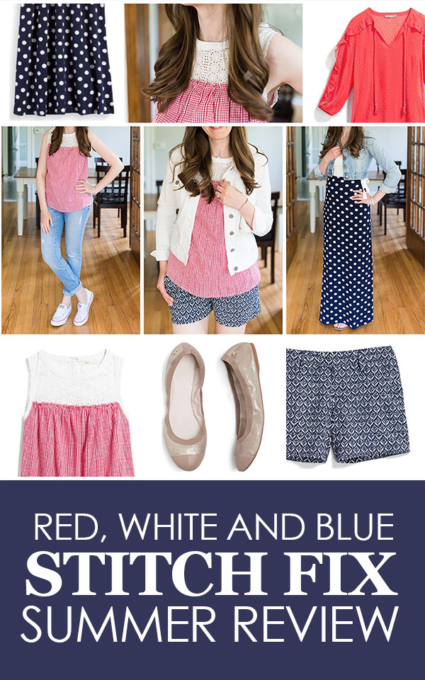 Red, White and Blue Summer Stitch Fix Review | 4th of July Stitch Fix | patriotic Stitch Fix | Stitch Fix clothes | Crazy Together blog