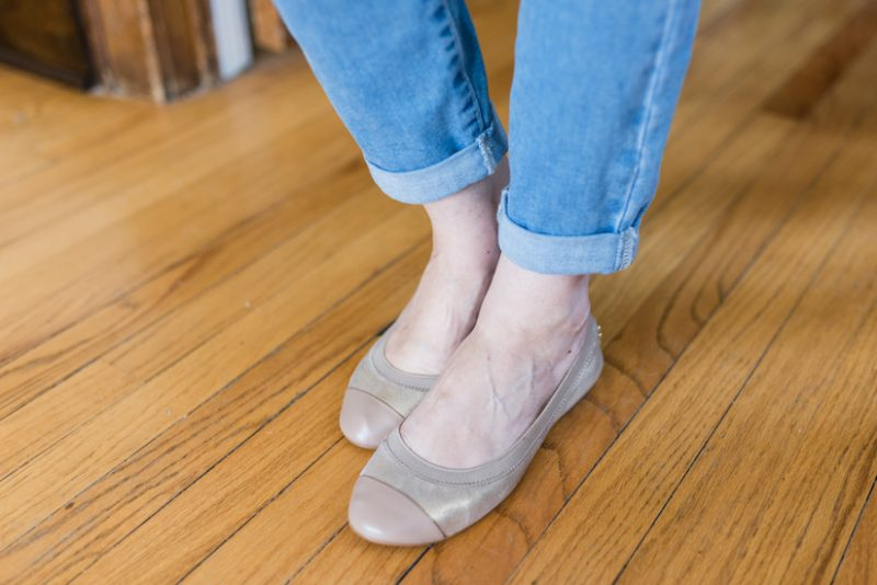 Red, White and Blue Summer Stitch Fix Review - Elbridge Leather Ballet Flats from Cole Haan | 4th of July Stitch Fix | patriotic Stitch Fix | Stitch Fix clothes | Crazy Together blog