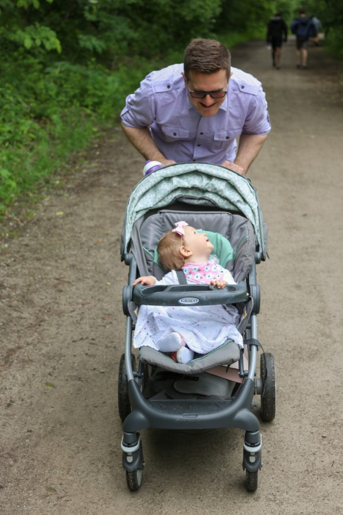 hiking at Nichols Arboretum on the University of Michigan campus | Crazy Together blog