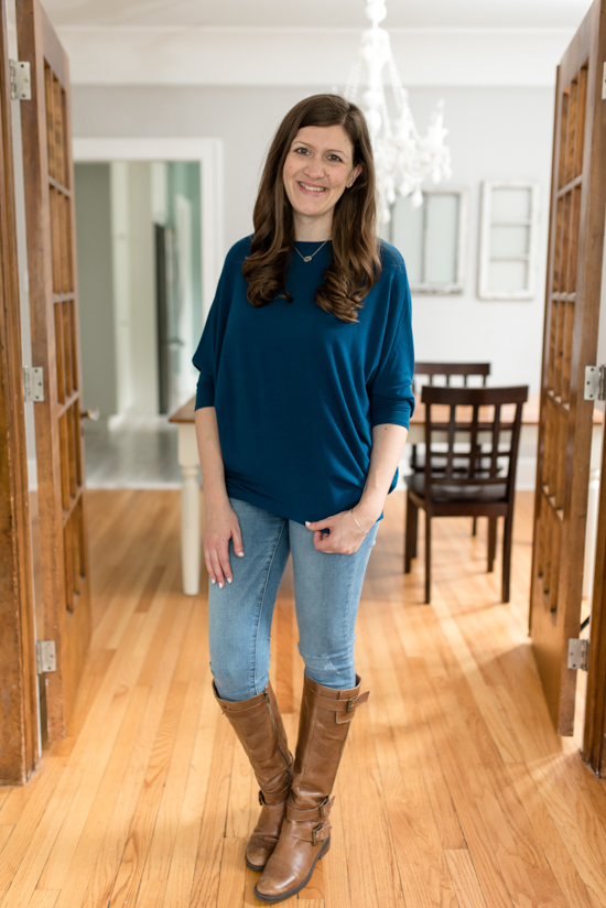 Reid 3/4 Sleeve Knit Top from Jolie | Stitch Fix review | Wantable vs. Stitch Fix | a side by side comparison | women's clothing subscription boxes | Crazy Together blog