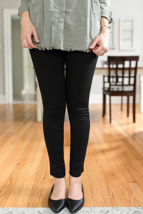 High Waisted Ponte Legging from Lumiere | Wantable style edit review | Wantable vs. Stitch Fix | a side by side comparison | women's clothing subscription boxes | Crazy Together blog