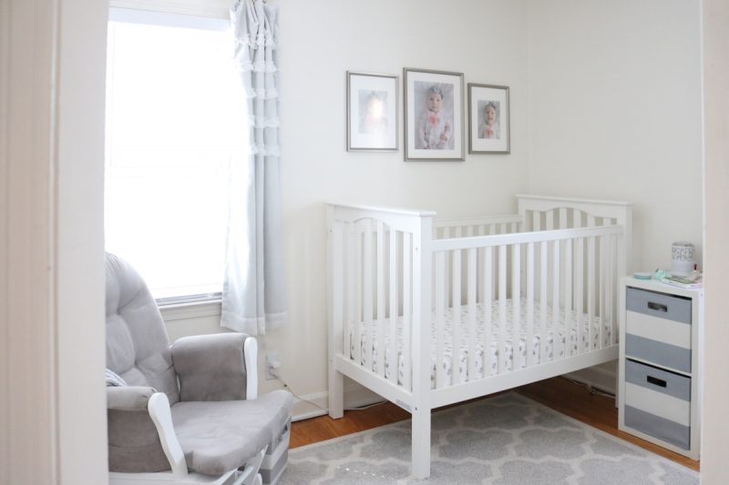 A Light And Airy Baby Nursery With Gray White Color Scheme Tiny