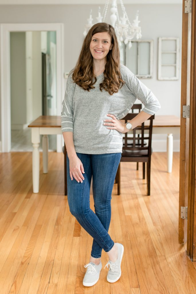 Comfy gray dolman sleeve top is perfect for weekend wear and leggings | Ansell Dolman Knit Top from Market & Spruce | Stitch Fix | October Stitch Fix | Stitch Fix review | fall fashion | Crazy Together blog