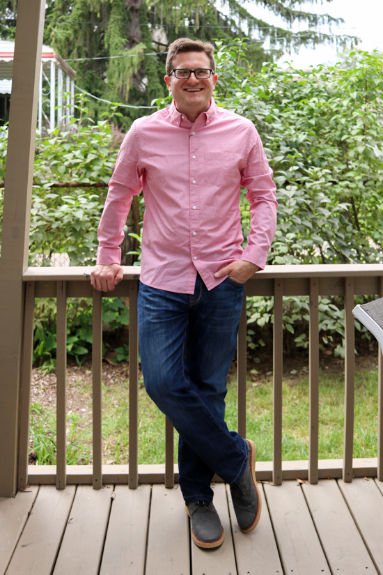 Essential Wash Stretch Shirt by Hawker Rye | Stitch Fix Men Review | Stitch Fix Men clothes | Stitch Fix Men style | Stitch Fix review | Crazy Together blog