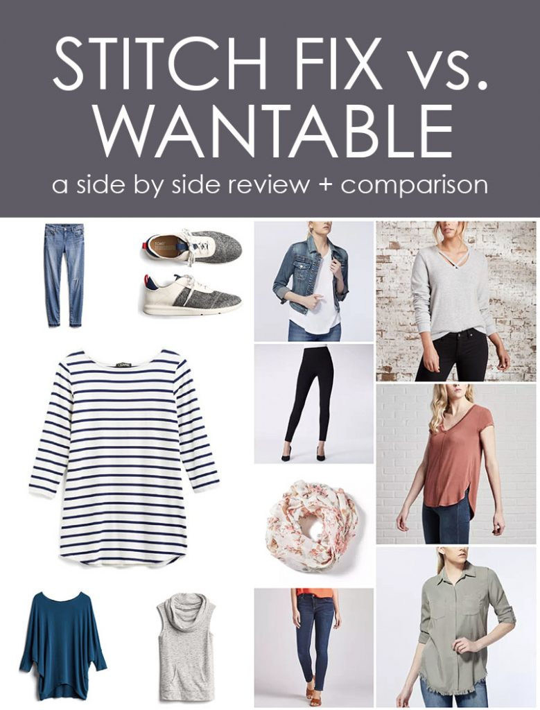 Wantable vs. Stitch Fix | a side by side comparison | women's clothing subscription boxes | Crazy Together blog