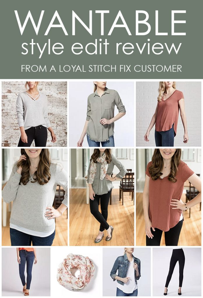 Wantable style edit review | Wantable vs. Stitch Fix | a side by side comparison | women's clothing subscription boxes | Crazy Together blog