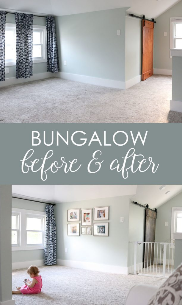 1925 craftsman bungalow before and after | upstairs children's playroom before an after | Crazy Together blog