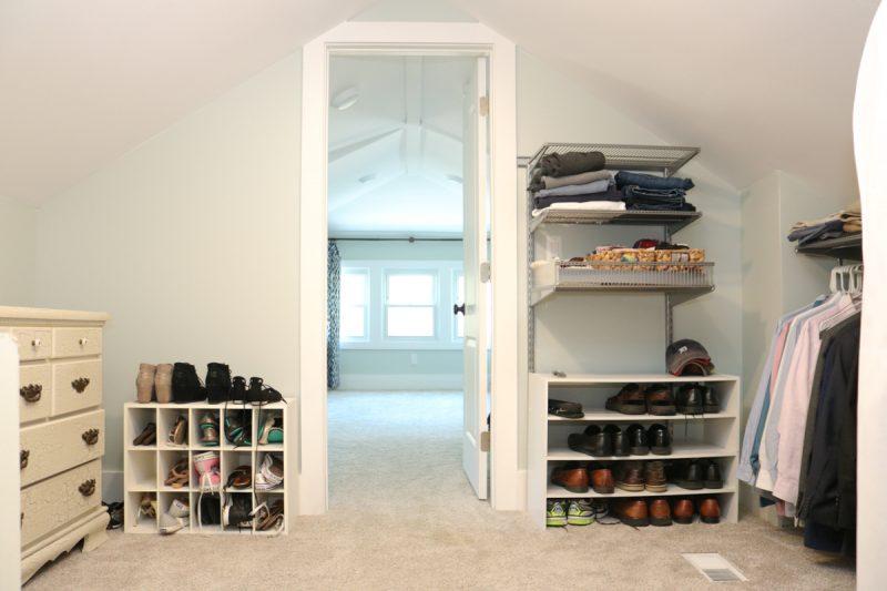 1925 craftsman master closet before and after | check out the before and after of this walk in closet | Crazy Together blog