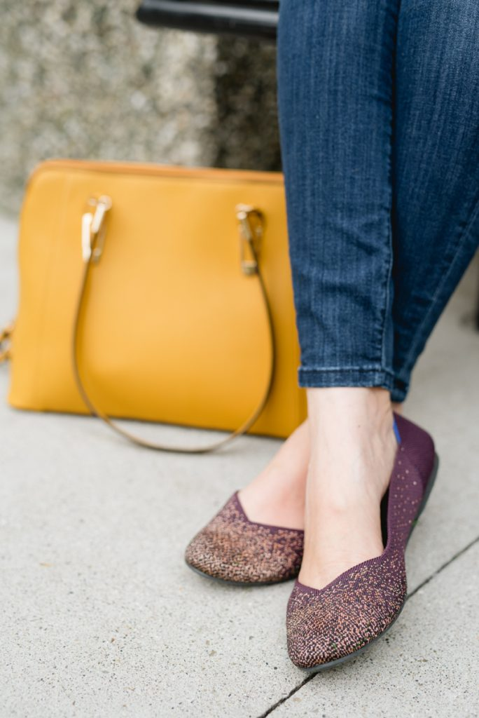 Curious about Rothy's? This blogger's very honest Rothy's review candidly answers all of your questions so you can make an informed decision | Honest Rothy's Review | Tieks vs. Rothys | comfortable flats | Rothy's reviews | comfortable shoes | Crazy Together blog