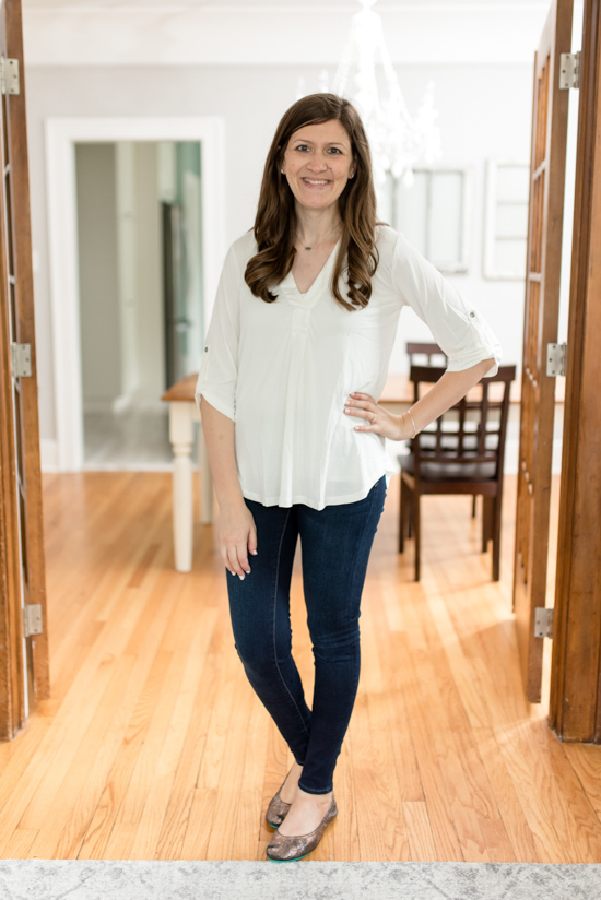 This Henley came in the Best Trunk Club Shipment I've Ever Received | Fall 2018 Trunk Club review featuring casual tops and leggings | Nordstrom clothes |Trunk Club clothes | subscription box review | subscription style boxes | subscription boxes for women | fall fashion ideas | Crazy Together blog #trunkclub #stylebox #fashion #fallclothes #nordstrom
