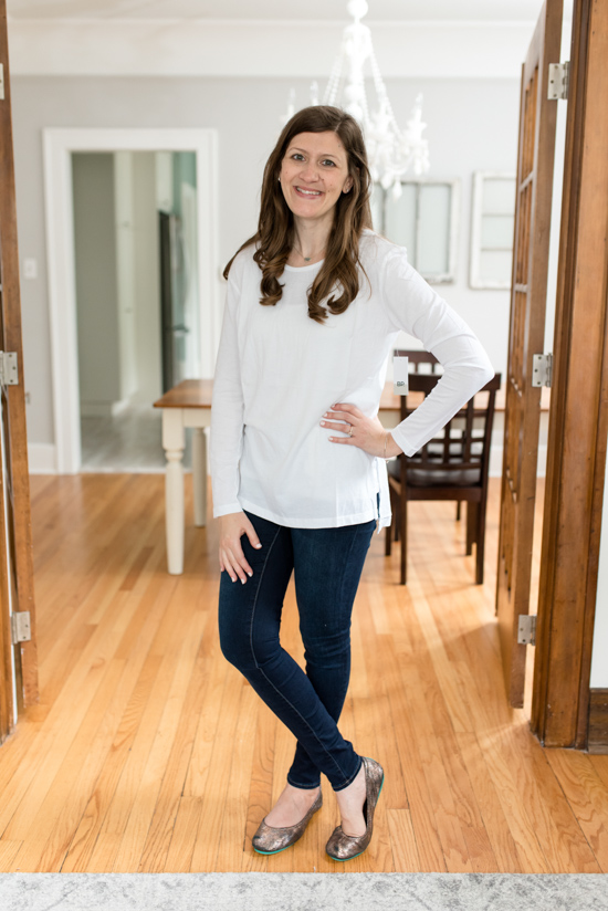This BP side slit tee came in the Best Trunk Club Shipment I've Ever Received | Fall 2018 Trunk Club review featuring casual tops and leggings | Nordstrom clothes |Trunk Club clothes | subscription box review | subscription style boxes | subscription boxes for women | fall fashion ideas | Crazy Together blog #trunkclub #stylebox #fashion #fallclothes #nordstrom