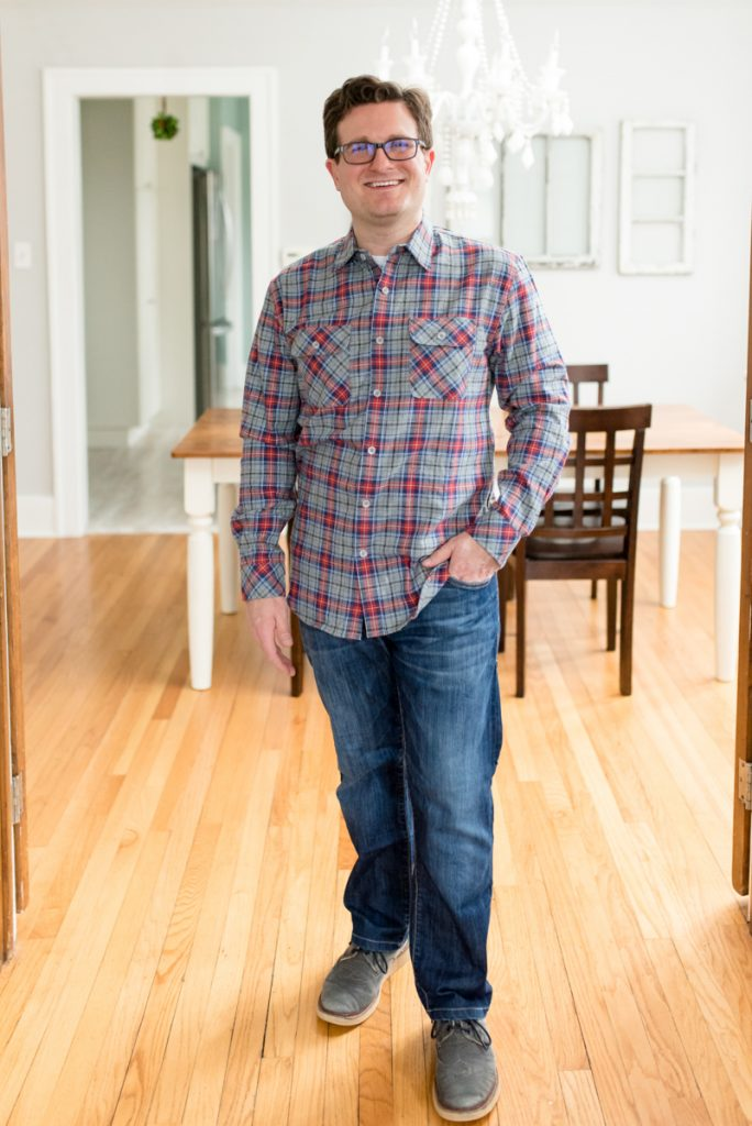 ax Brushed Flannel Shirt from California Shirt Co. | His and Her Stitch Fix Review | January 2019 | Crazy Together blog | #stitchfix #stitchfixmen #fashion #fashionblog