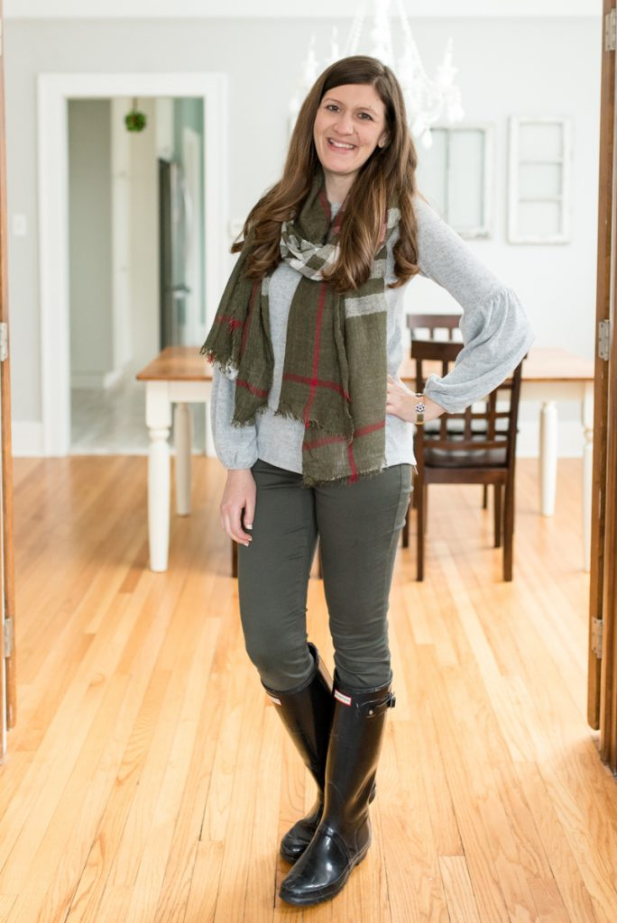 Amare Plaid Oblong Scarf from Girly | His and Her Stitch Fix Review | January 2019 | Crazy Together blog | #stitchfix #stitchfixmen #fashion #fashionblog