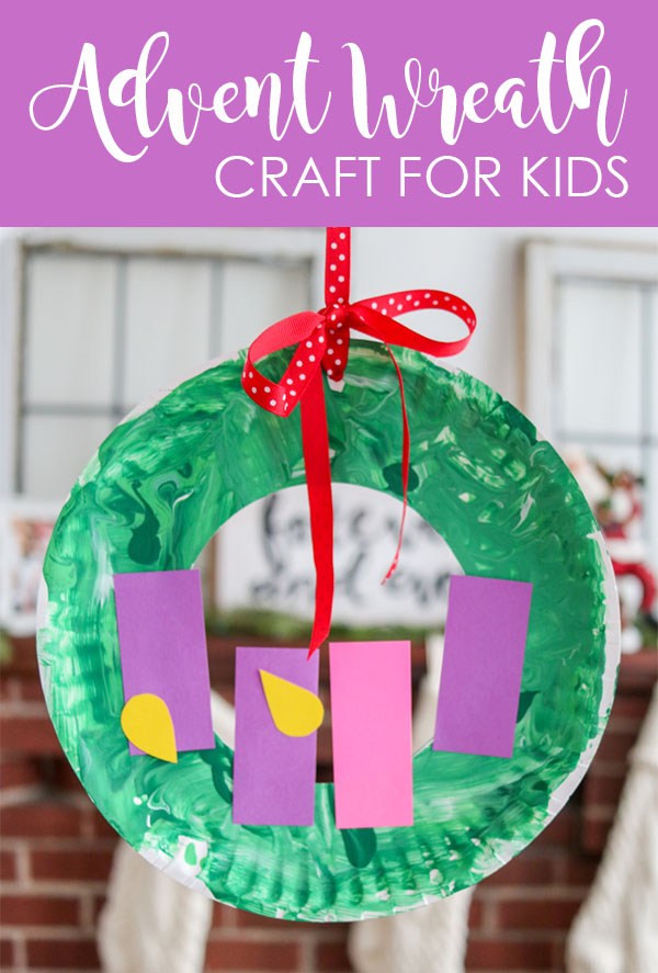 Paper Plate Advent Wreath Craft for Kids | decorate a painted paper plate and add paper candles and flames for each week of Advent | easy craft for kids and toddlers | Christmas crafts for kids | toddler Christmas craft | Crazy Together blog #christmascrafts #christmas #craftsforkids #adventcraft #advent