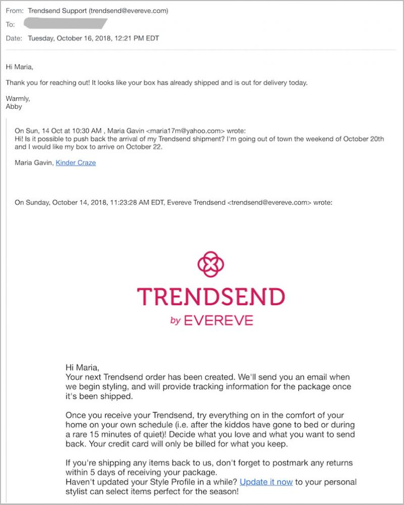 Trendsend vs. Stitch Fix customer service | Crazy Together blog