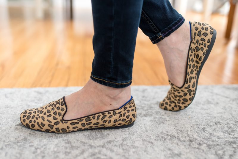 leopard print Rothy's loafers | Crazy Together blog